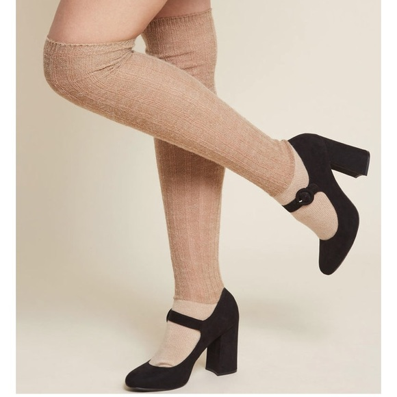 Modcloth Accessories - Beige thigh high socks
